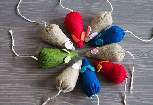 Мышки из ткани