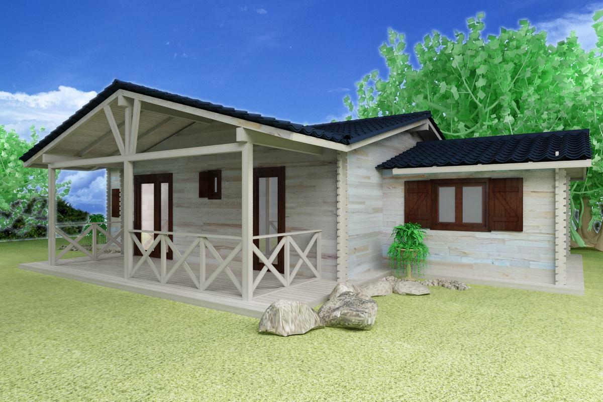 Casa Ieftina De Lemn Model 3D  Proiecte caseMobilierMateriale constructiiFinisaje