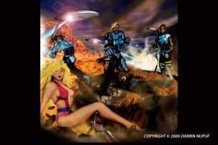 Earthquake Ninja Zombies - movie concept poster