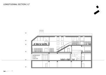 Longitudinal section 2-2'