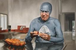 Aging Superhero Oil Painting 5