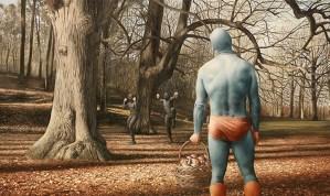 Aging Superhero Oil Painting 6