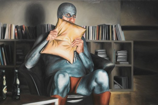 Aging Superhero Oil Painting 7