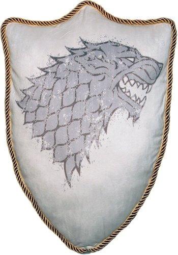 Game of Thrones House Stark Direwolf Sigil Throw Plush Pillow