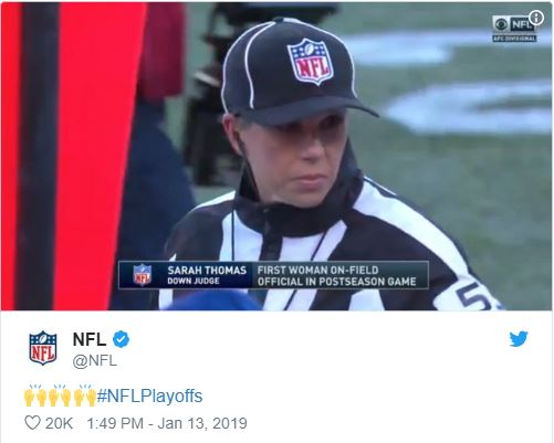NFL Twitter featuring Sarah Thomas
