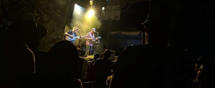 Mandolin Orange performing as a duo at Old Settlers Music Festival 2019.