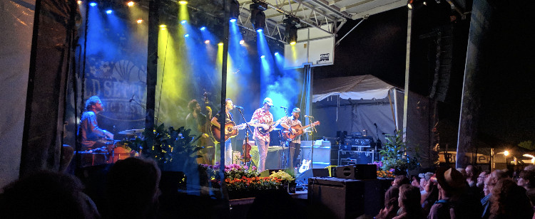 Mandolin Orange performing with their touring band at Old Settlers Music Festival 2019.