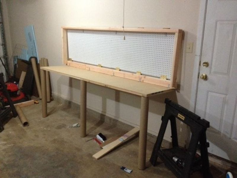 How To Build A Wall Mounted Folding Workbench Your ProjectsOBN