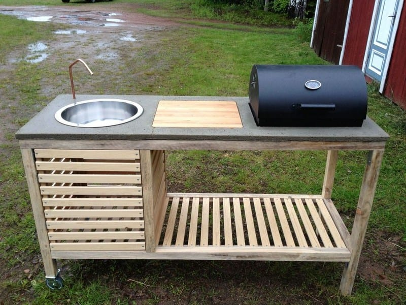 portable kitchen tall pull out cabinets how to build a your projects obn diy barbeque