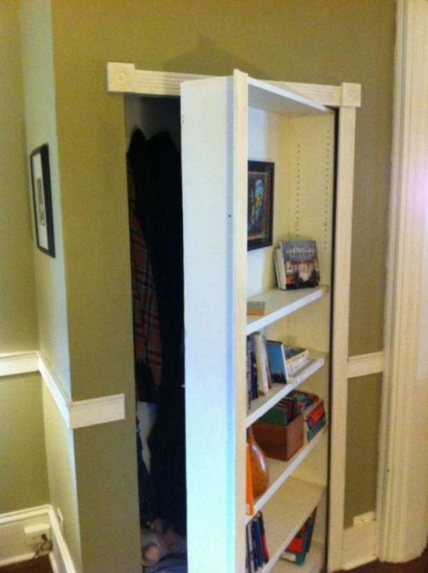 Hidden Closet Doors Home Design Ideas