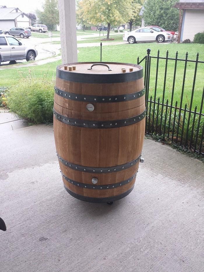 build a whiskey barrel bbq smoker