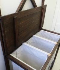 Build your own laundry sorter with hanging rod  Your ...