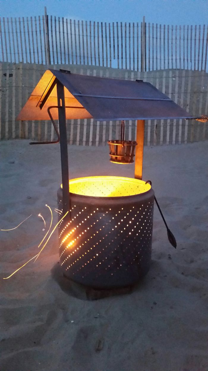 How to turn an old washing machine into a wishing well