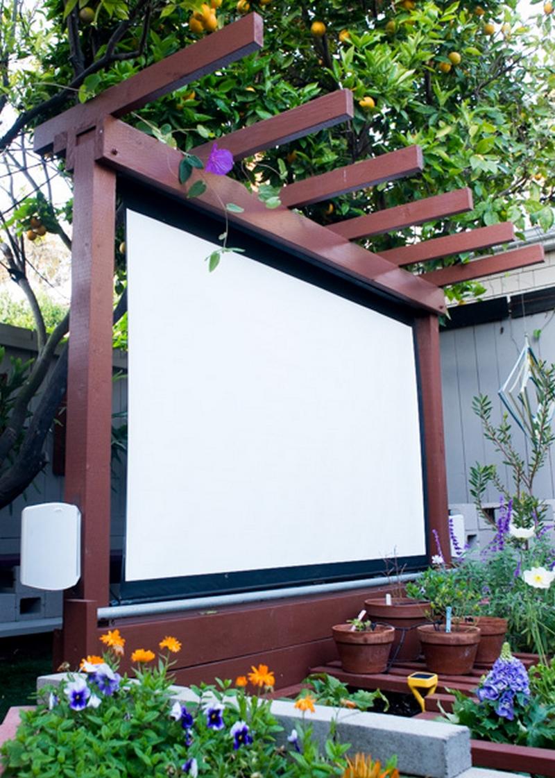 Outdoor Backyard Movie Theater