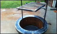 Build a fire pit with cooking grill in your backyard   DIY ...