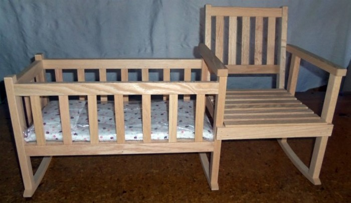 rocking chair cradle santa hat covers bed bath and beyond learn how to build a crib diy