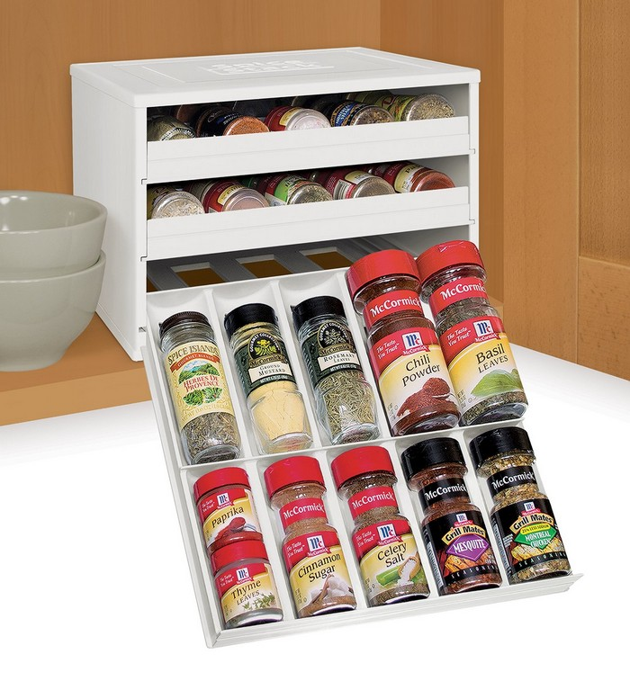 kitchen island with trash can visualizer how to make a built-in spice rack | diy,