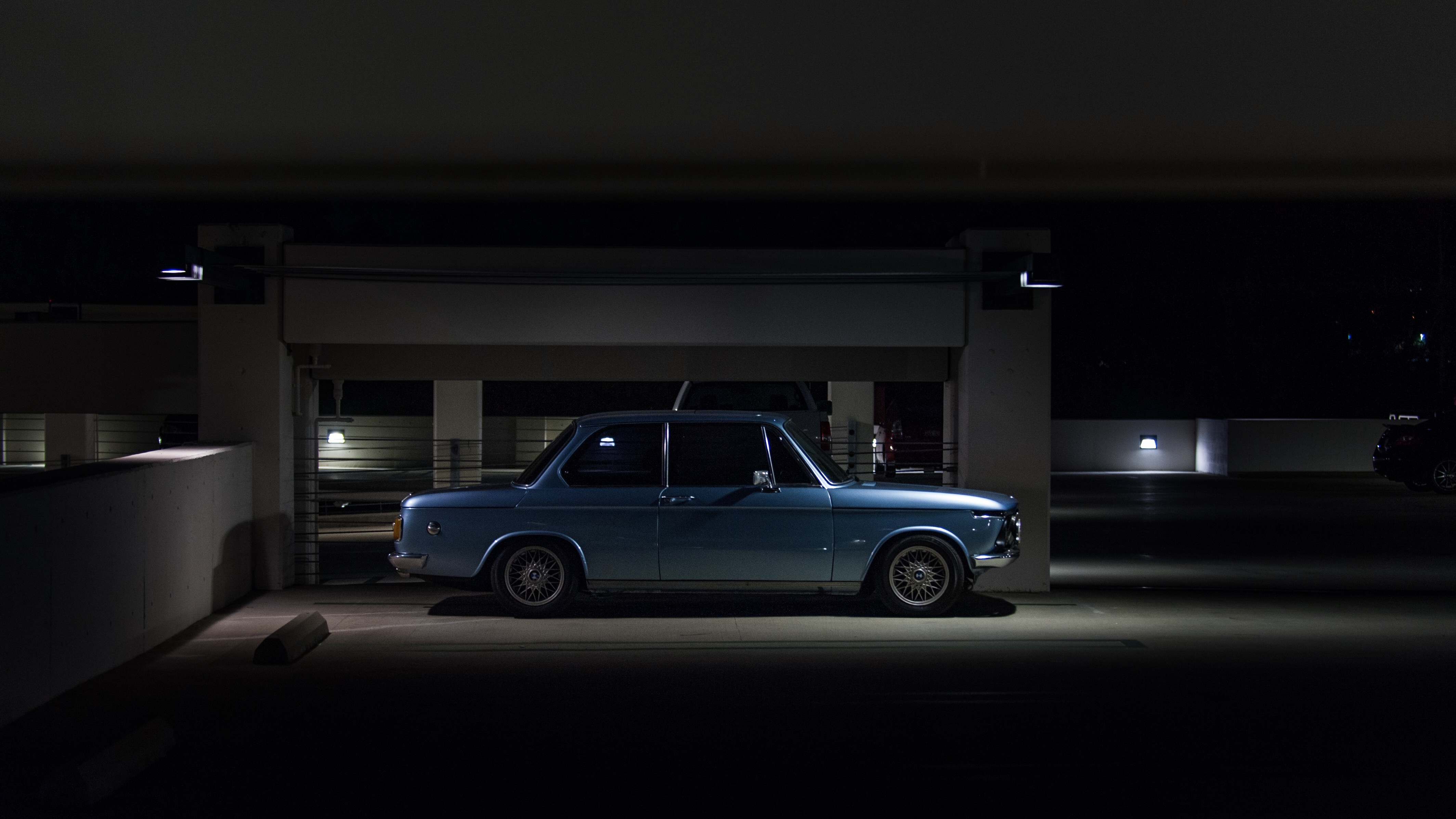 bmw 2002, night, nikon d700, classic, vintage, restoration, bmw, 2002, bmw e10, bbs