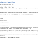 Renaming and Relocating Data Files