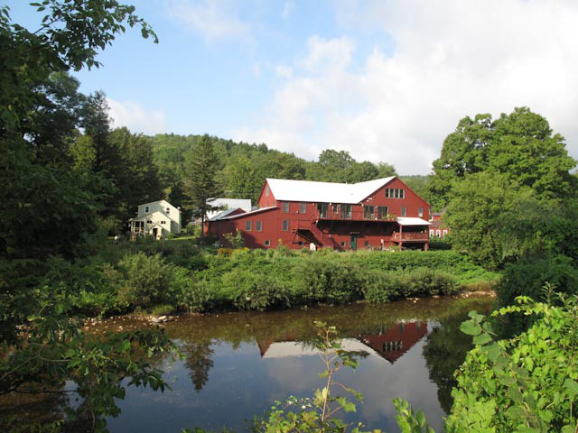 Mill building and garden
