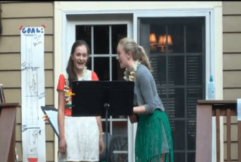 Julianne and Alex singing the bassoon song. A little embarrassing, but it was worth it!