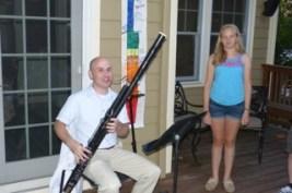 Mr. Norton plays the new bassoon.
