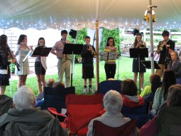Playing at Project Bassoon's second concert.