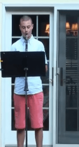 Zach playing the clarinet