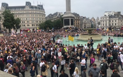 LONDON DEMONSTRATION:  ON THE GROUND IN THE BELLY OF THE BEAST