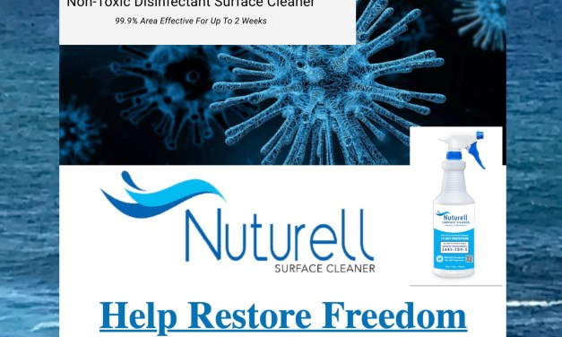 NEW PRODUCT:  NUTURELL  – antiviral and antimicrobial solution