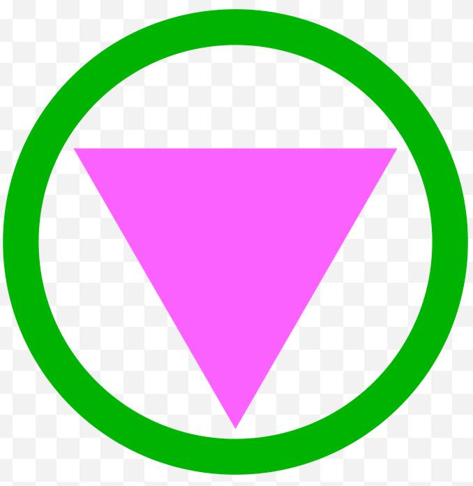 upside down triangle