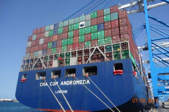 The vessel I am traveling as passenger on - mv CMA CGM Andromeda