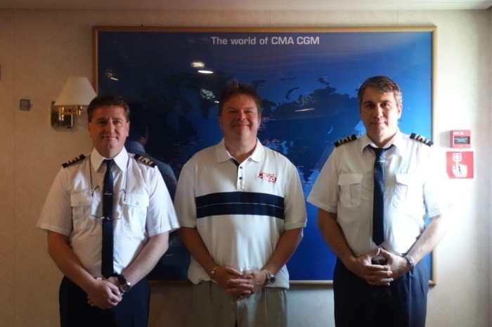 Onboard CMA CGM Andromeda