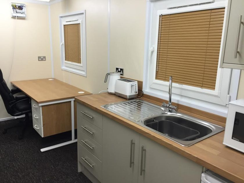Picture for the high end internal 20ft office with toilet container finish