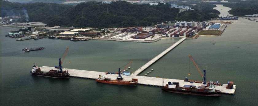 AML Shipping's vessel FC No 5 alongside Kota Kinabalu Sepanggar port