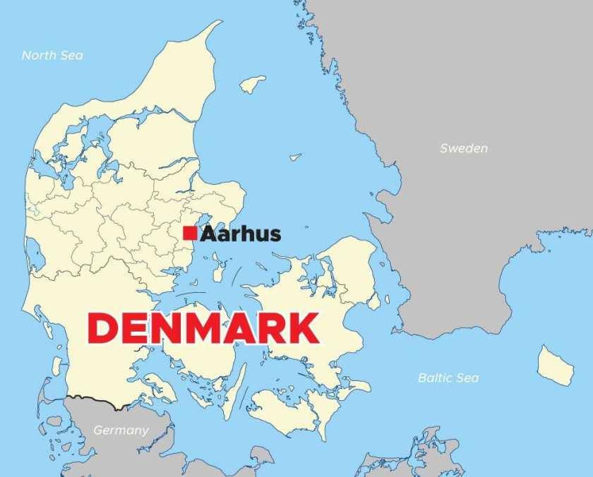 Aarhus-Denmark-Map