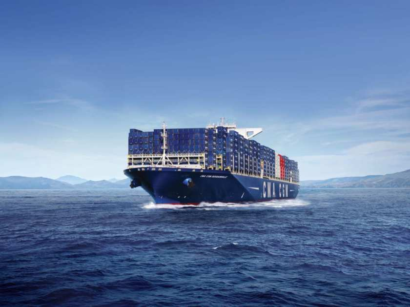 CMA CGM Travel by Container Ship