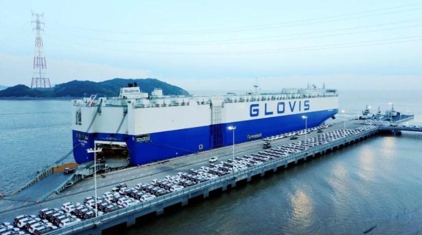 Glovis vessel shipping cars
