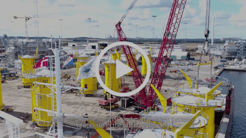 Video of Martin Bencher shipping the transition pieces for the ARKONA Offshore Wind Farm on behalf of manufacturer Bladt Industries A/S from Denmark to Germany.