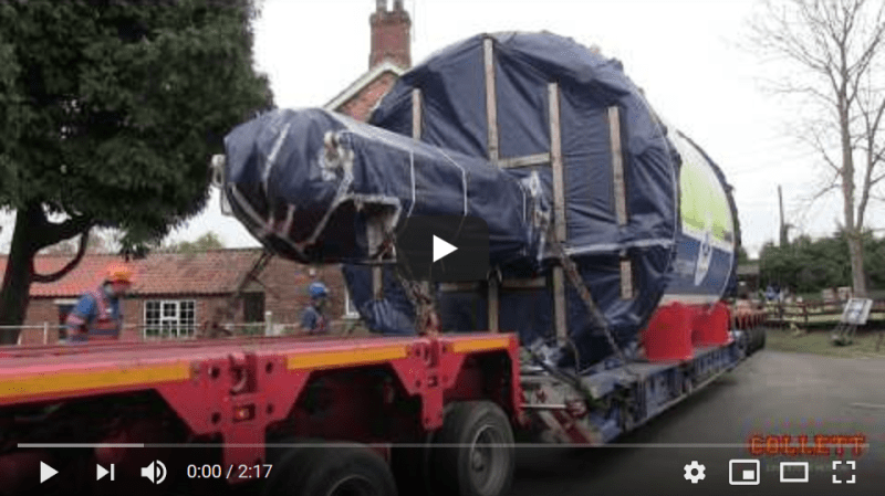 Transporting Tunnel Boring Machine Mary