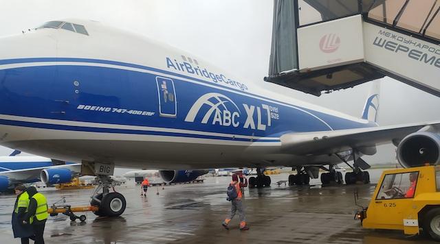 AirBridgeCargo operates charter flight carrying vaccines