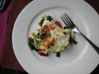 Capsicum and spinach egg white omelette