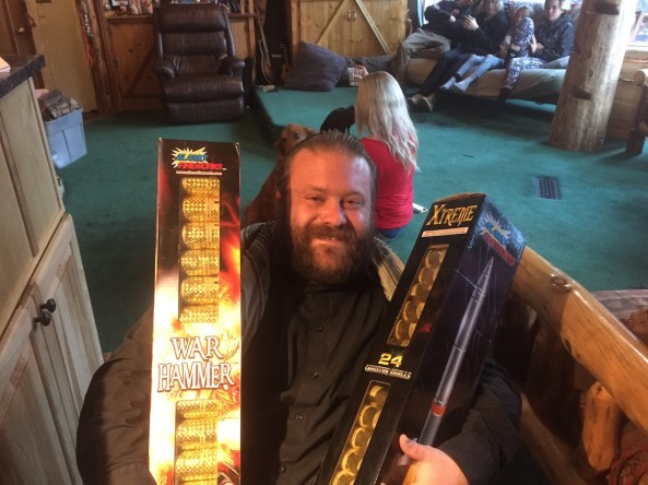 Josh came through with HUGE mortars that could be seen from Reno (yeah, we got phone calls)