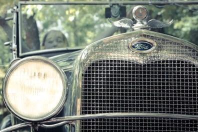 The grill of a 1930 Ford Model A NotSoSAHM