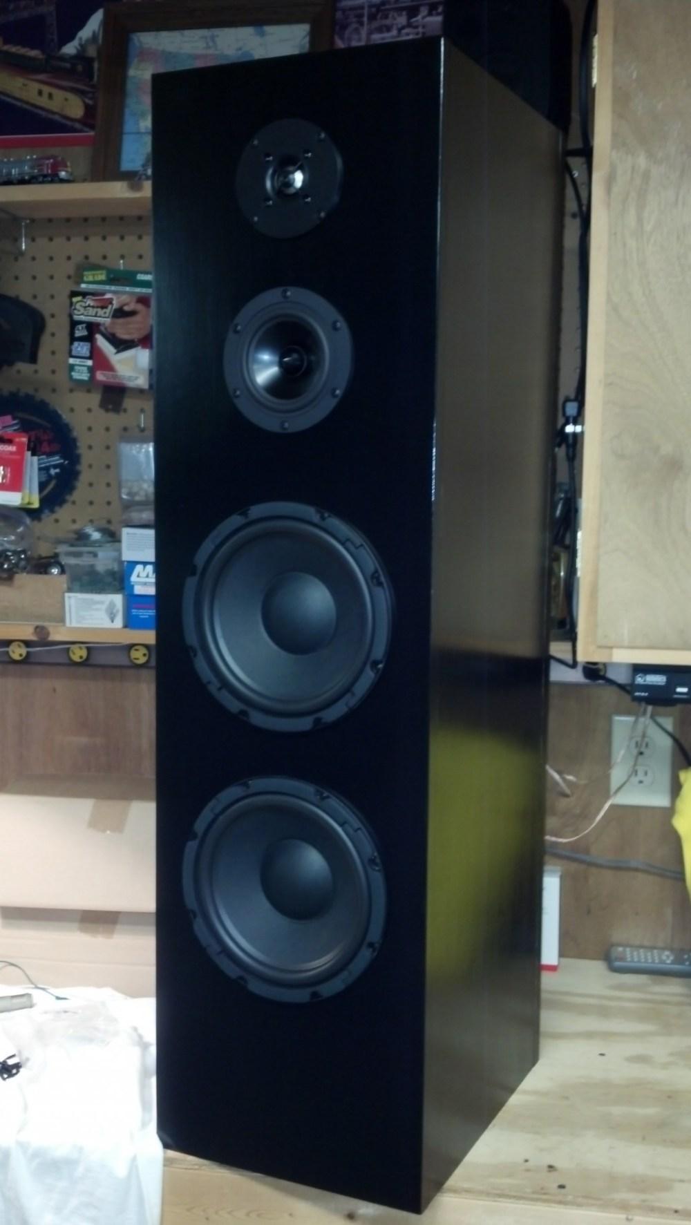 medium resolution of 4 driver 3 way floor standing tower speaker