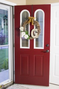 Painting our Front Door Passionate Red - Project Goble