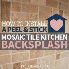 Stick On Backsplash Tiles For Kitchen Pot Hanger How To Install A Peel Mosaic Tile