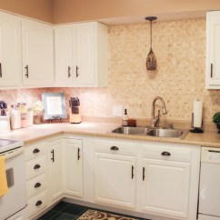 White Appliances Kitchen Layout Design Tool Transformation Cabinets Painted Counters With After Check Blog For Details