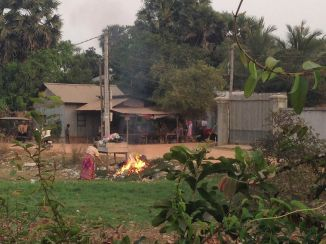 Unfortunately burning trash is very common in Cambodia