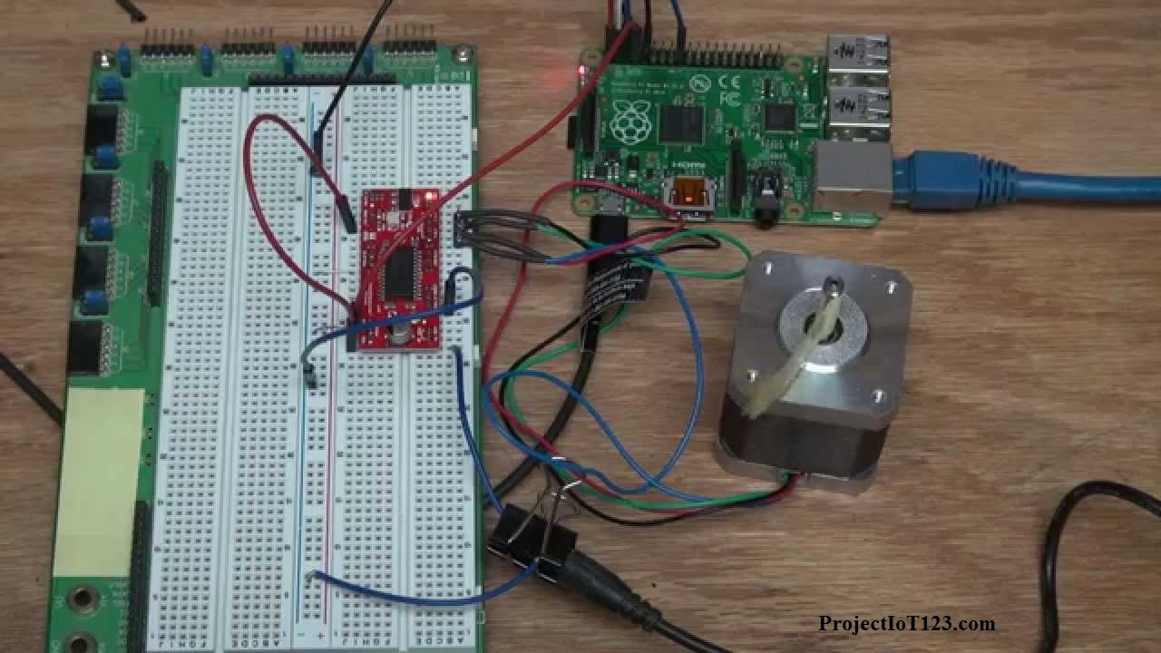 hight resolution of the gpio pins number 18 of the raspberry pi is connected to the step pin of the stepper motor driver and the gpio pin number 19 is connected to the dir pin